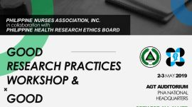 Good Research Practices Workshop on May 2-3, 2019