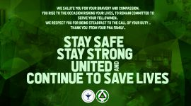 STAY STRONG UNITED AND CONTINUE TO SAVES LIVES